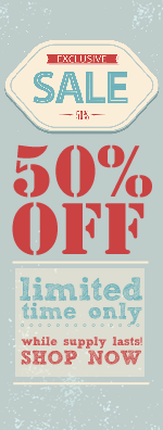 POWER SALE 50% off selected items – while supply lasts!