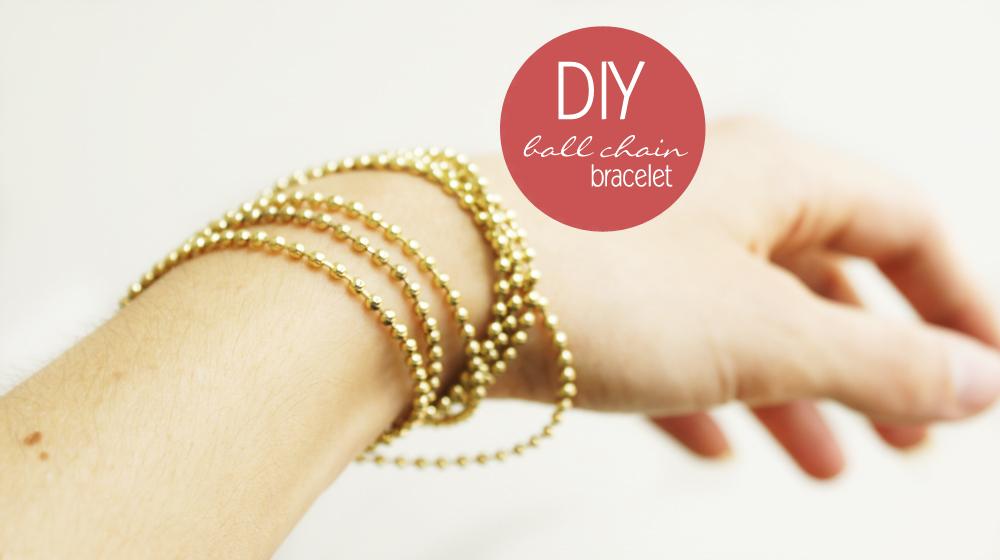 Famous DIY // Ball chain Bracelet TZ38