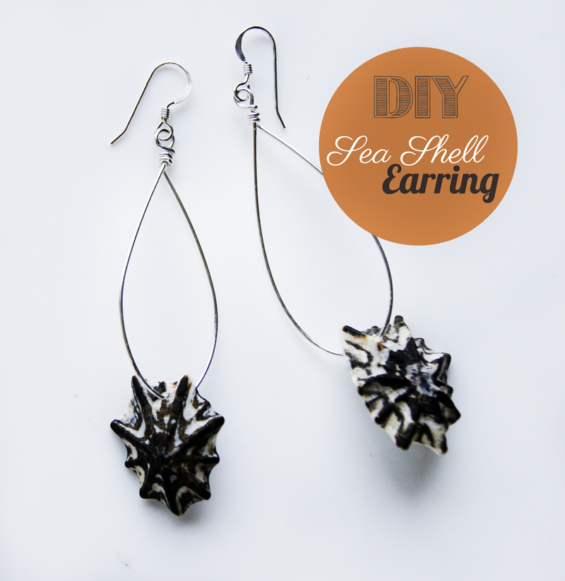 7b3531009 DIY: Sea Shell Wire Earrings » Oh Everything Handmade
