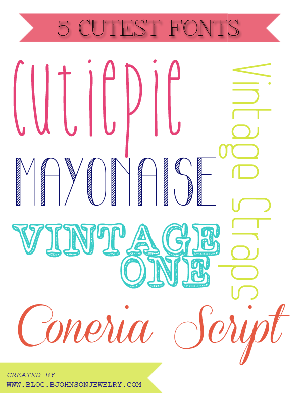 Download Free Font Friday // 5 CUTEST FONTS