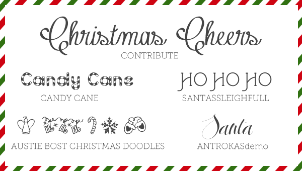 free font friday 5 christmas fonts - Christmas Fonts Free