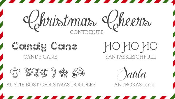 free font friday 5 christmas fonts
