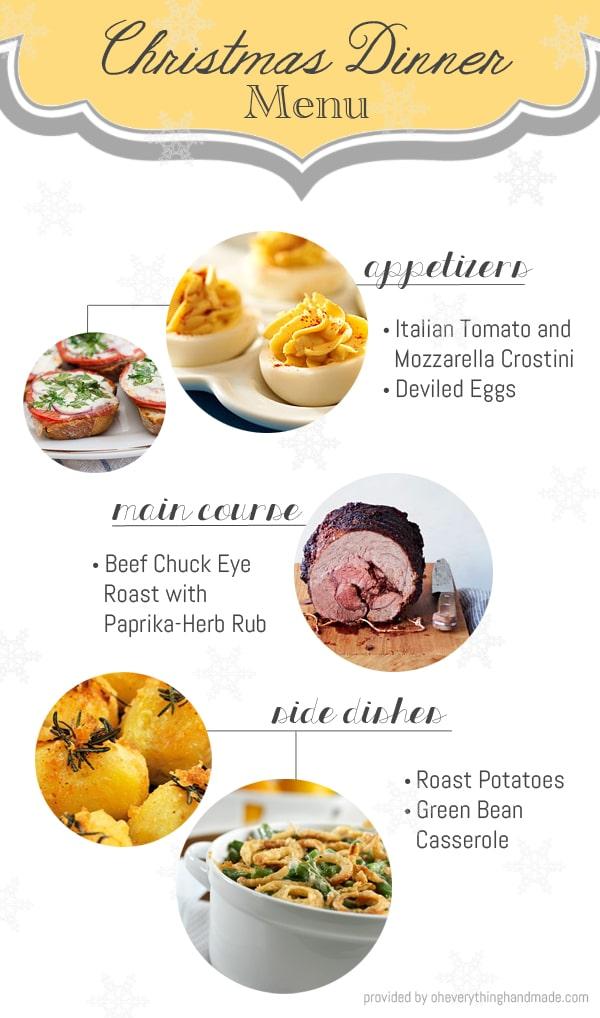 Christmas dinner menu - Christmas menu pinterest ...