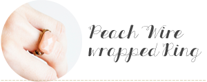 Peach Wire Wrapped Ring DIY