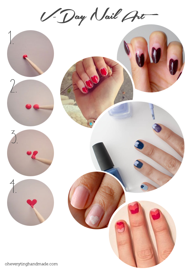 5 Easy Valentines Day Nail Art