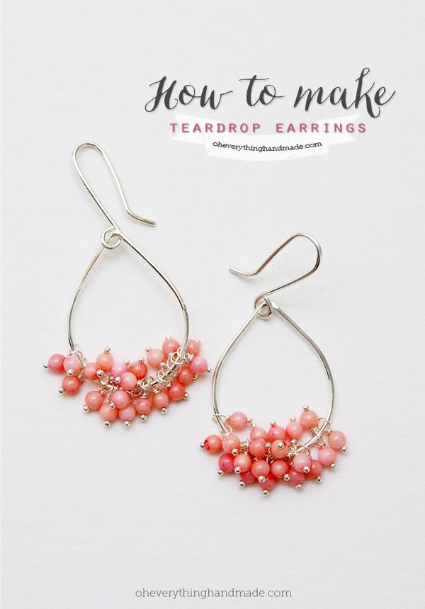 How To Make A Teardrop Earring Via Bettina Johnson Jewelry