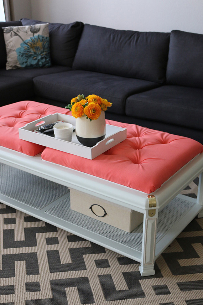 Diy How To Upholster A Coffee Table