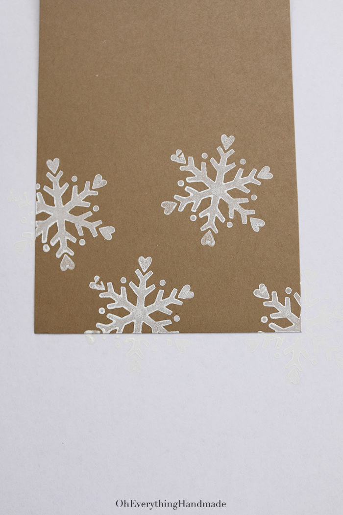 Ribbon Bow Christmas Card Oh Everything Handmade