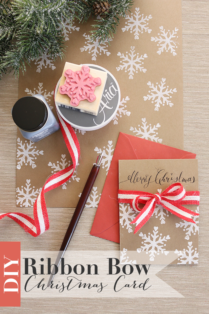 Ribbon Bow Christmas Card 187 Oh Everything Handmade