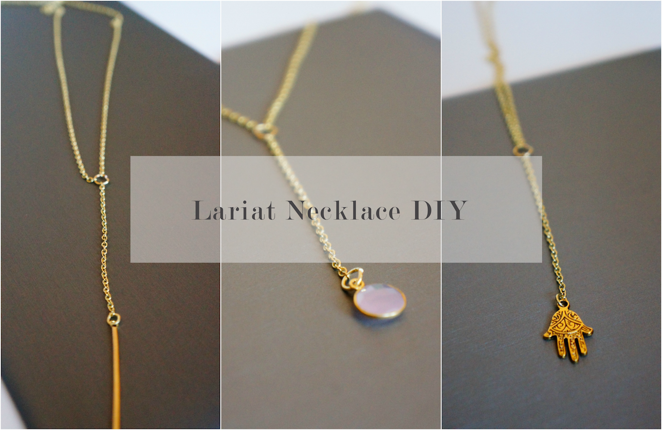 Make Your Own Lariat Necklace Oh