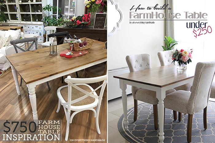FarmHouse Table Inspiration And Finished Project
