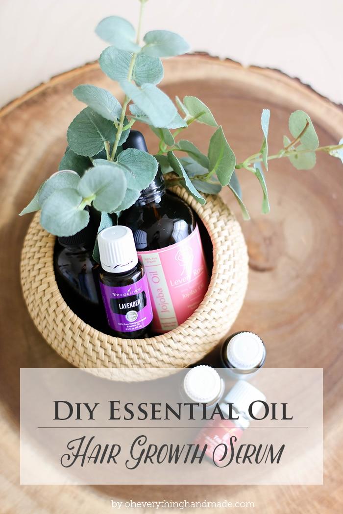 Diy Essential Oil Hair Growth Serum 187 Oh Everything Handmade