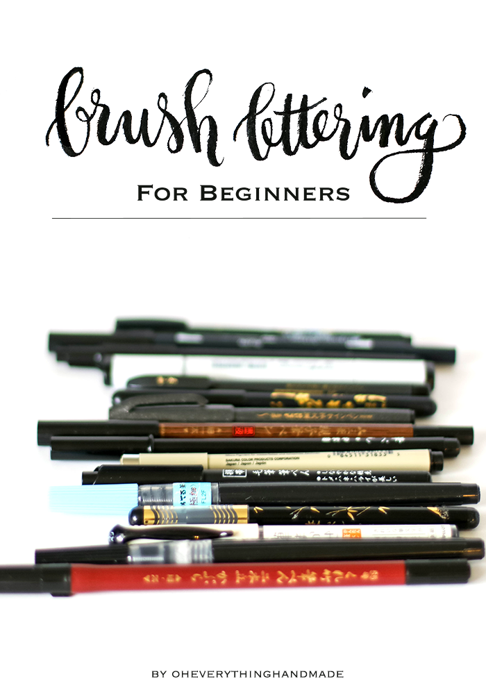 Brush Lettering for Beginners - for Pinning