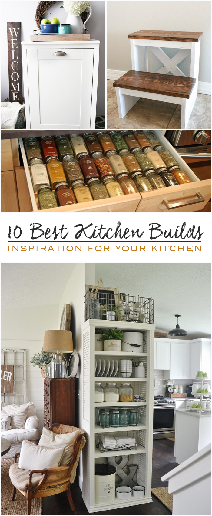 10 Best Kitchen Builds Diy Crafts And Projects Ideas Diy Kitchen Decor