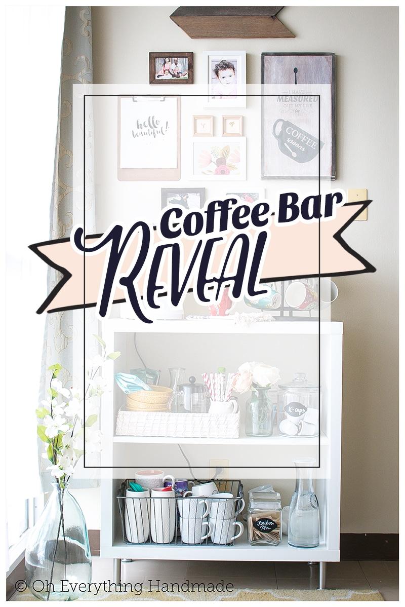 Reveal Ikea Kallax Coffee Bar Oh Everything Handmade