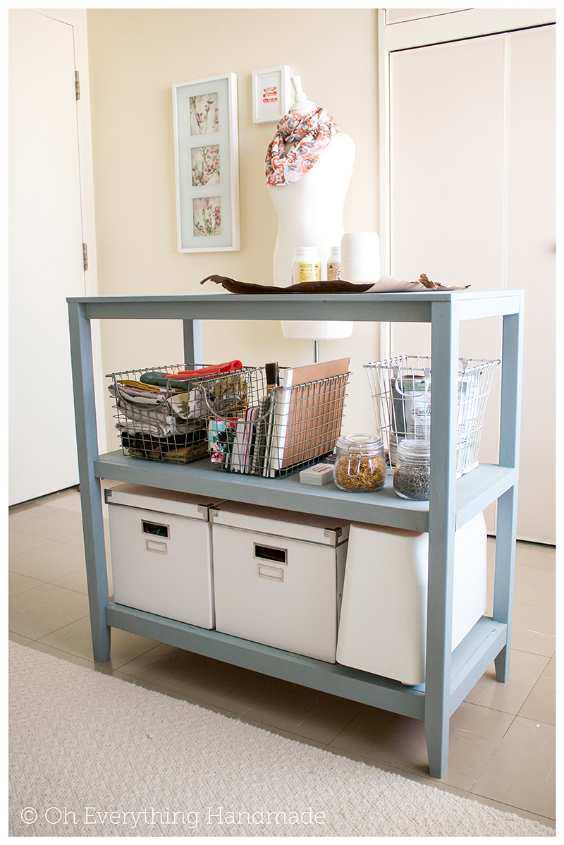 Craft table project incl building plans via for Craft desk with storage