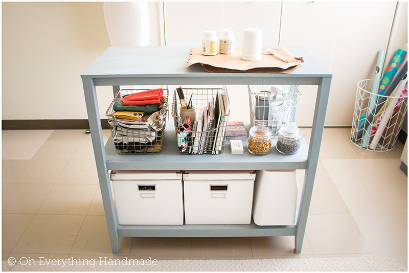 Craft storage table7 oh everything handmade for Craft table with storage plans