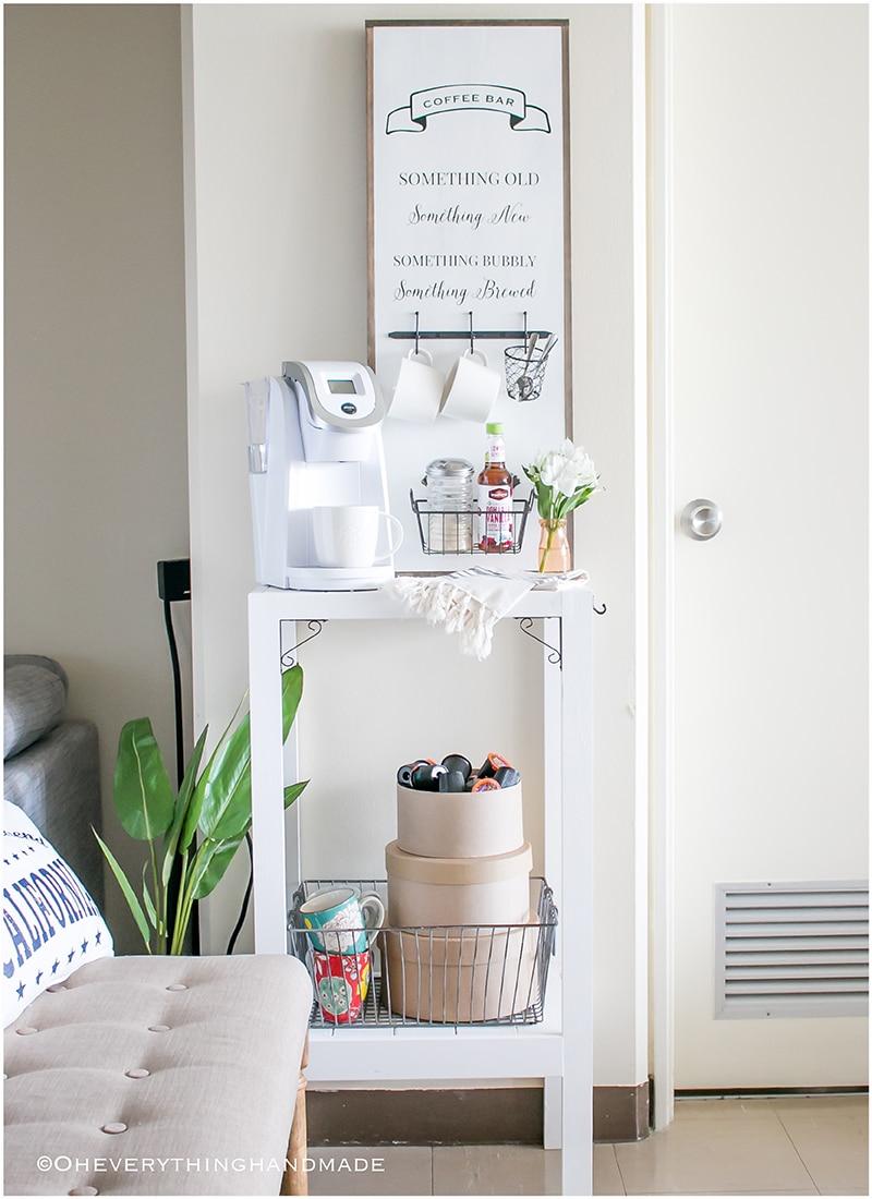 Coffee Bar or Kitchen Island Shelf » Oh Everything Handmade