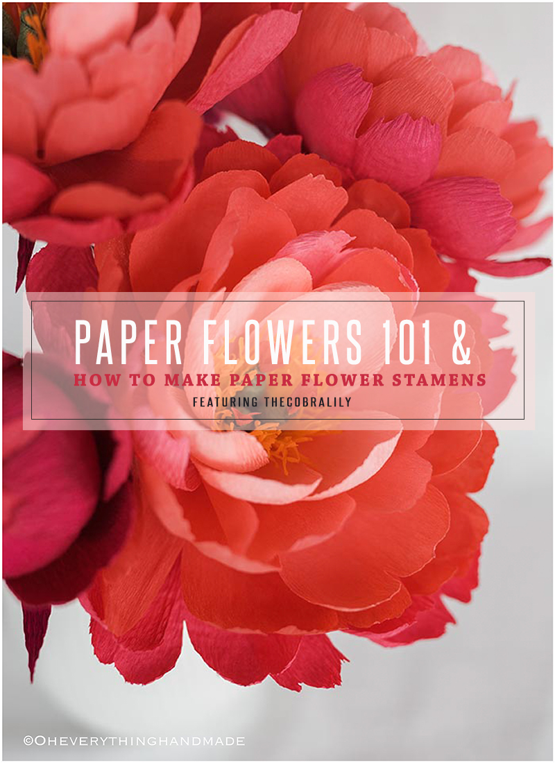 Paper flowers 101 how to make paper flower stamens oheverything mightylinksfo