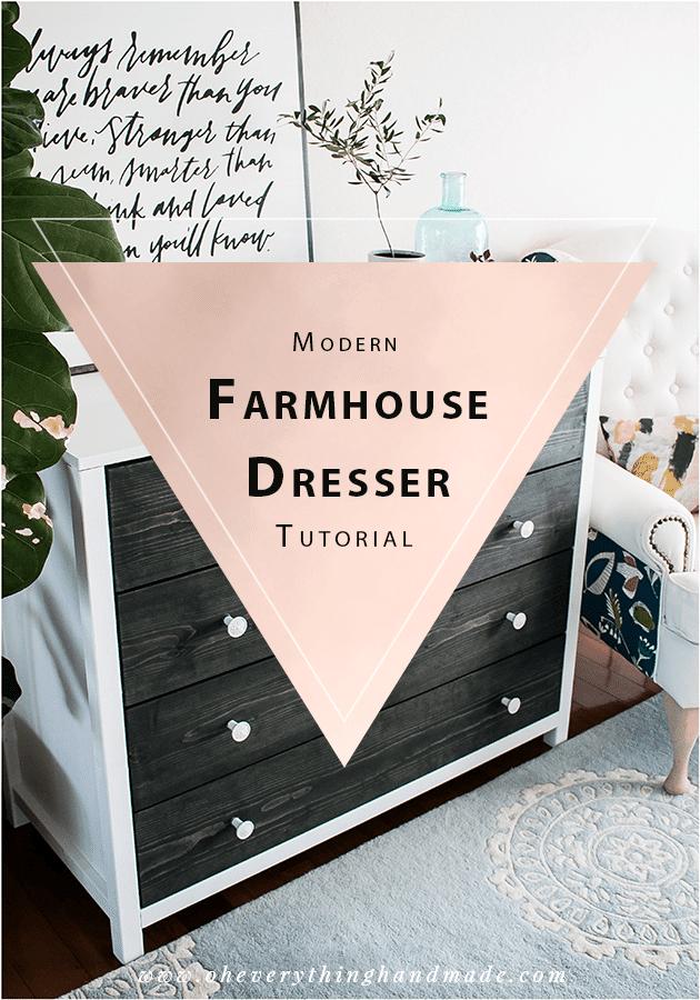 Modern Farmhouse Style Dresser-Featured