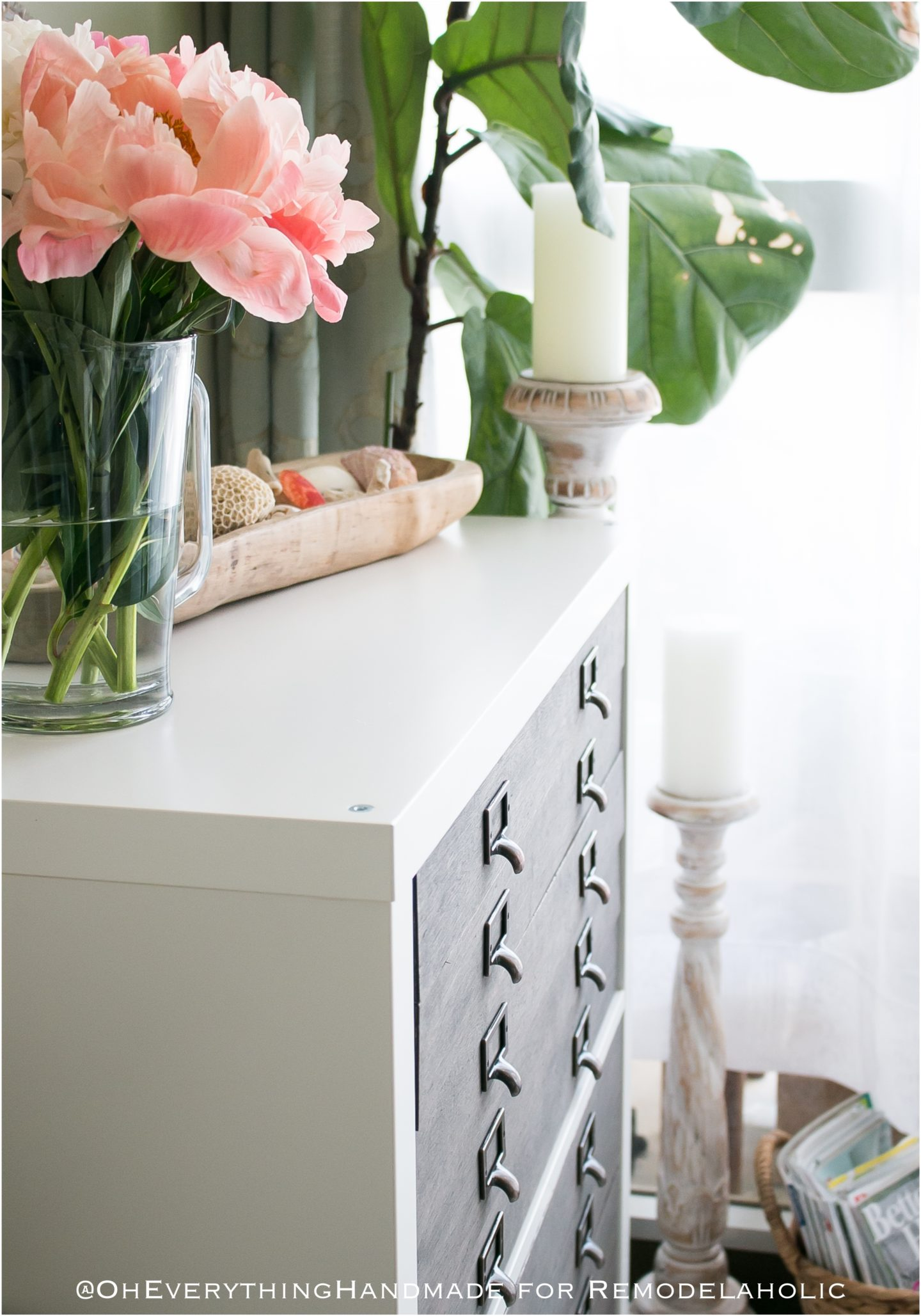 IKEA KALLAX Flat File Cabinet Hack via Oh Everything Ha..