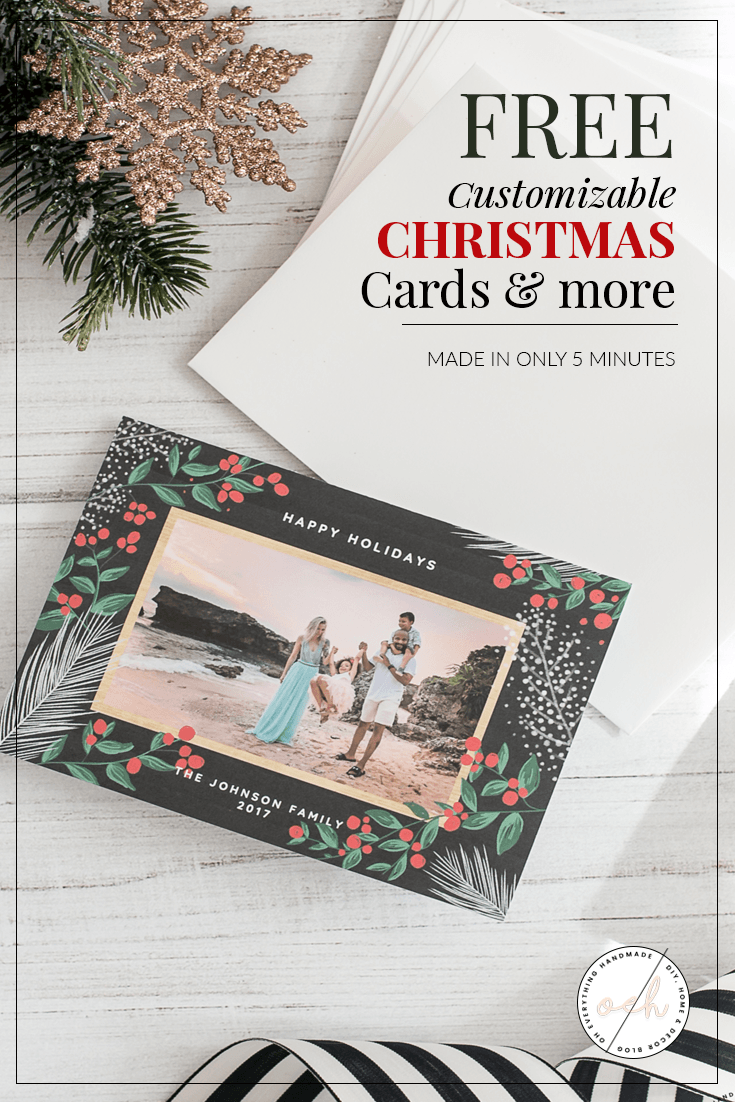 Free Customizable Christmas Cards & more